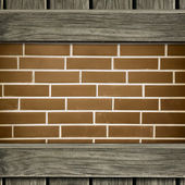 Wooden frame background — Stock Photo