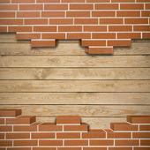 Broken brickwall background — Stock Photo