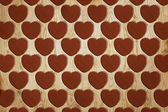 Heart pattern wood — Stock Photo