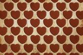 Heart pattern wood — Стоковое фото