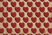 Heart pattern wood — Stockfoto