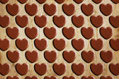 Heart pattern wood — Photo
