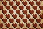 Heart pattern wood — Stockfoto