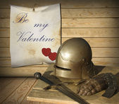 Medieval Valentines Day — Stock Photo