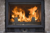 Hearth of a fireplace — Stock Photo