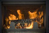 Hearth of a fireplace — Stok fotoğraf