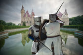 Fighting knights — Stock Photo