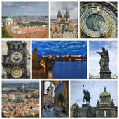 Collage from Prague — Stock Photo