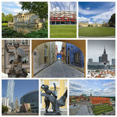 Collage from Warsaw — Stock Photo