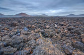 Volcanic barren landscape — Stock Photo