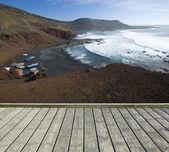 Empty wooden terrace — Stock Photo