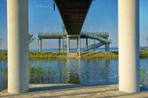 Vantage point on the lakeshore — Stock Photo