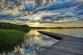 Jetty on lake — Stock Photo