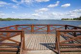 Empty jetty on the lake — Stock Photo