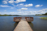 Empty jetty on the lake — Stock Photo