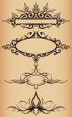Frame ornaments — Stockvector