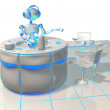 Future kitchen with artificial intelligence - Foto Stock