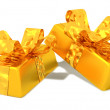 Gold ingots as a gift — Stock Photo