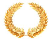 Gold laurel wreath — Stock Photo