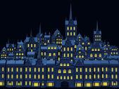 Città vecchia di notte — Foto Stock