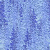 Painted Christmas fir forest. seamless image — Stockfoto