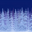 Painted winter fairy forest — Stock Photo