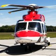 Helicopter on the airfield — Stock Photo