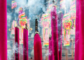 Chinese incenses with smoke — Stock Photo