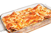Lasagna isolated — Stock Photo