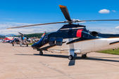 Helicopters on an airfield — Stock Photo
