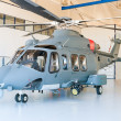 Helicopter in hangar — Stock Photo