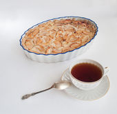 Tea with apple pie — Stock Photo