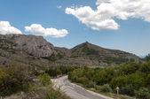 Weg in de bergwegen — Stockfoto