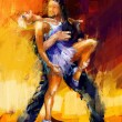 Rumba dancers — Stock Photo