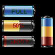 Stock Vector: Battery Indicator