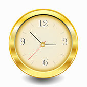 Gold Clock — Vettoriale Stock