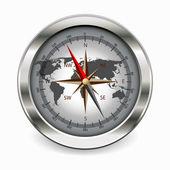 Metallic compass — Stock Vector