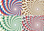 Color Spiral (four design color) — Stock Vector