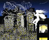 Mélodie de la nuit — Vecteur