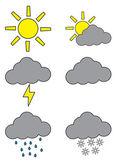 Weatherforecast symbols — Stock Vector