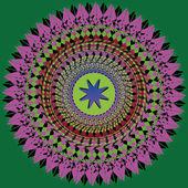 Spirograph spiral — Stock Vector
