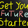 Stock Photo: Get your future started