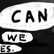 """Yes, we can!"" handwritten with white chalk on a blackboard — Stock Photo"