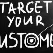Stock Photo: Target your customers