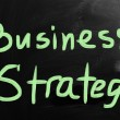 """Strategy"" handwritten with white chalk on a blackboard — Stock Photo"