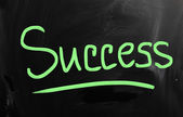 """success"" handwritten with white chalk on a blackboard — Foto de Stock"