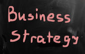 """Business strategy"" handwritten with white chalk on a blackboard — Stock fotografie"