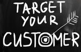 Target your customers — Stockfoto