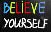 Believe yourself — Stock Photo