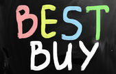 """Best buy"" handwritten with white chalk on a blackboard — Stock Photo"
